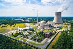 Blick auf das Kernkraftwerk Emsland