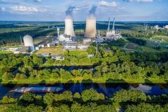 Blick auf das Gaskraftwerk KEM in Lingen
