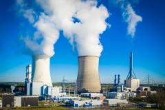 Blick auf die Gaskraftwerke in Lingen