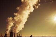 Blick auf Kraftwerke in Lingen