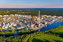 Blick auf das Oelwerk BP in Lingen