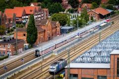 Blick auf den Lingener Bahnhof