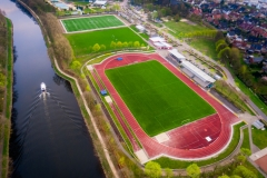 Blick auf das Emslandstadion in Lingen