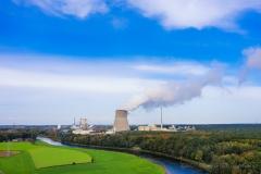 Blick auf die Kraftwerke in Lingen